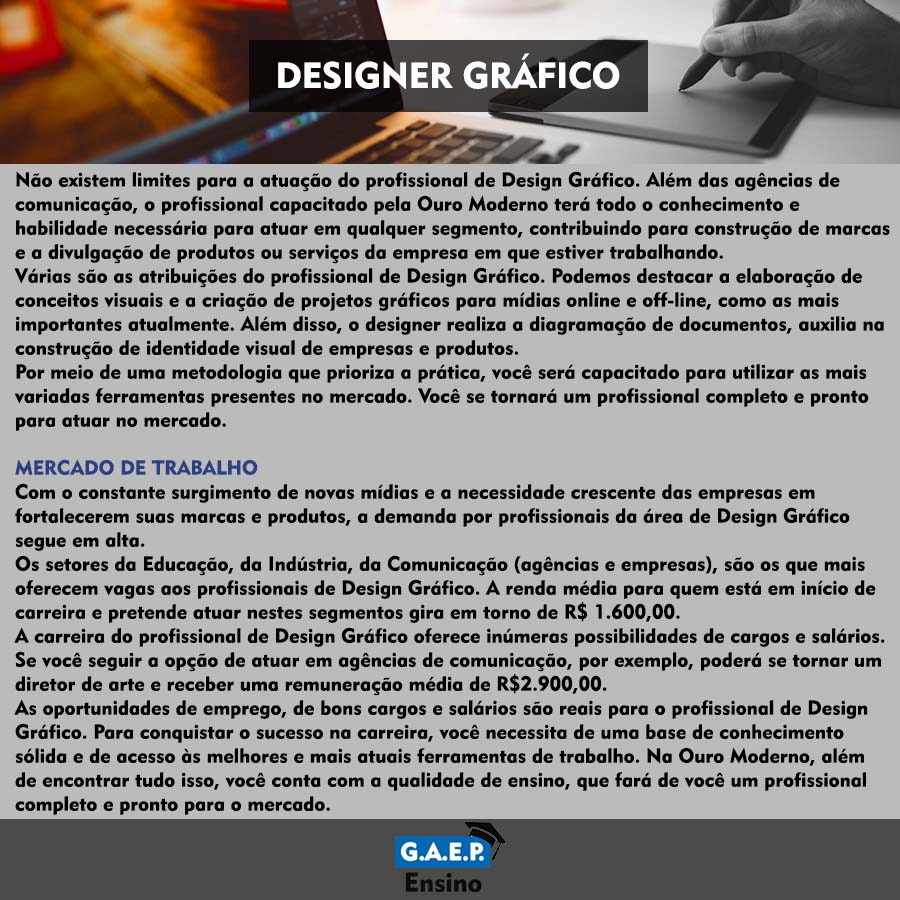 Explicação Designer Gráfico Oficial