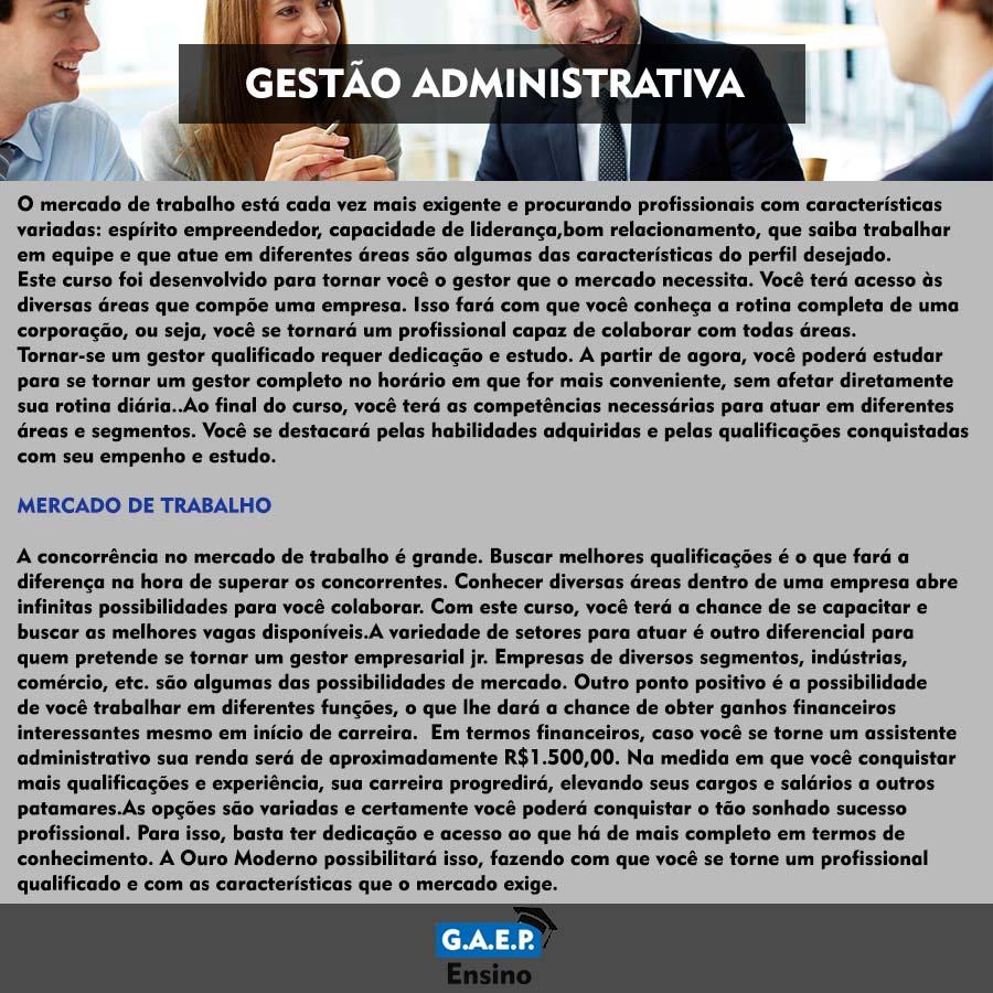Explicação Gestão Administrativa Oficial