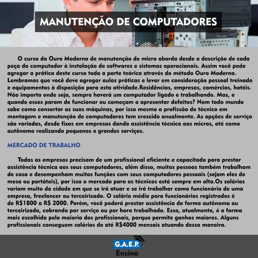 Explicação Manutenção de Computadores Oficial