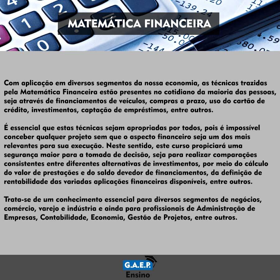 Explicação Matemática Financeira Oficial