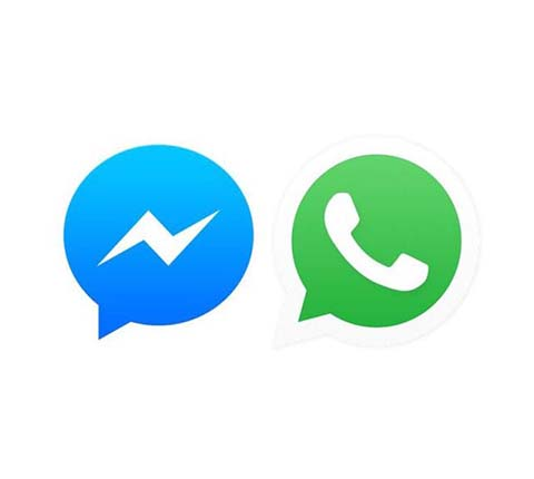 Whatsapp e Menssenger Icon Oficial